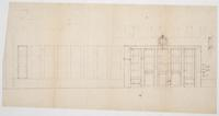 Bank of Canada building hallway sketch with measurements