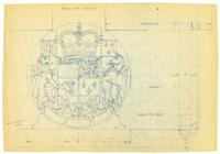 Bank of Canada building armorial decoration blueprint