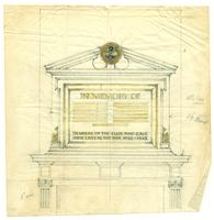 Badminton and Racquet club of Toronto War Memorial sketch with scale