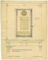 Badminton and Racquet club of Toronto war memorial sketch, partially coloured