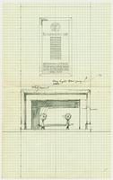 Badminton and Racquet Club of Toronto war memorial pencil sketch on graph paper