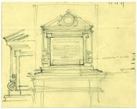 Badminton and Racquet club of Toronto War Memorial sketch