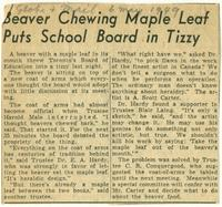 Beaver Chewing Maple Leaf Puts School Board in Tizzy