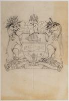 Bank of Nova Scotia arms pencil sketch