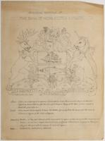 Bank of Nova Scotia arms sketch with with description