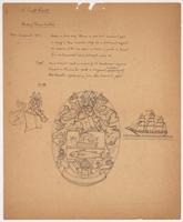 Bank of Nova Scotia arms pencil sketch with description
