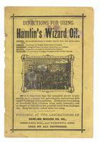 Directions for using Hamlin's Wizard Oil