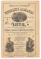 National calendar, or Herrick's almanac 1873