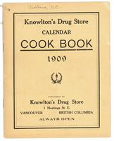 Knowlton's Drug Store calendar cookbook