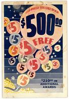 How would you like to win $500 free? 1936