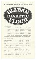 A forward step in diabetic diet: Diaban diabetic flour