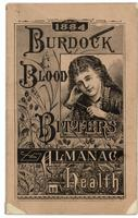 Burdock Blood Bitters almanac 1884