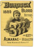 Burdock Blood Bitters almanac 1889