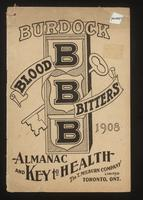 Burdock Blood Bitters almanac 1908