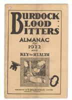Burdock Blood Bitters almanac 1922