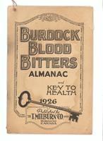 Burdock Blood Bitters almanac 1926