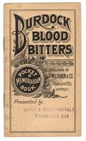 Burdock Blood Bitters pocket memorandum book 1894
