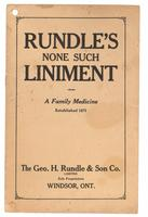 Rundle's none such liniment