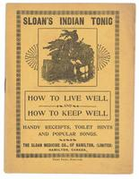 Sloan's Indian Tonic: how to live well and how to keep well