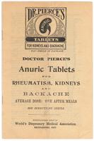 Doctor Pierce's anuric tablets