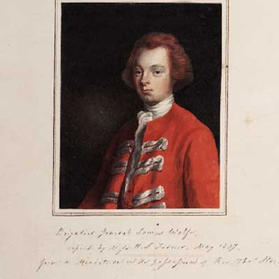 Portrait of General James Wolfe Manuscripts